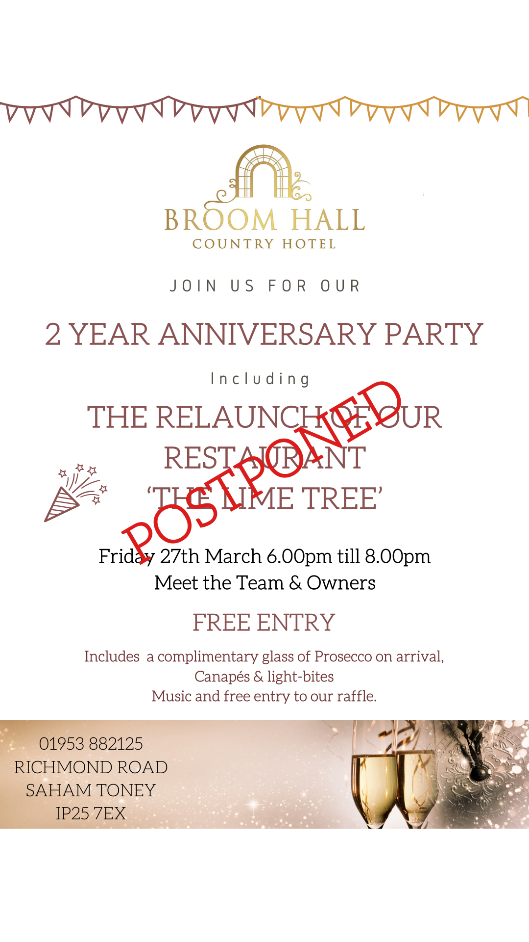 special Events at Broom Hall
